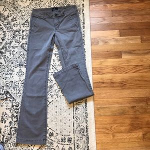 American Eagle Kick Boot Grey pants. Size 0